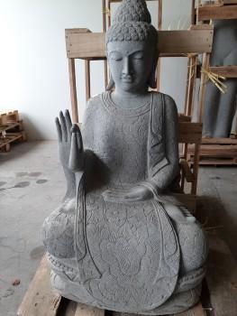 Buddha aus asiatische Eiche 30 cm hoch
