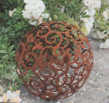 Barockkugel edelrost gartendekoration hauner for Gartendekoration aus rost