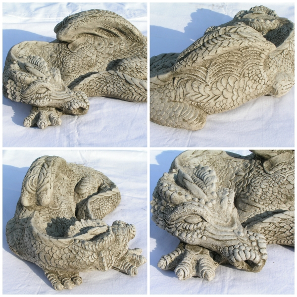 Drache steinguss - medium sleeping dragon